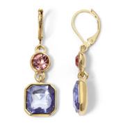 Monet® Gold-Tone Multicolor Double-Drop Earrings
