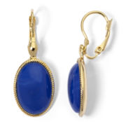 Monet® Gold-Tone Blue Drop Earrings