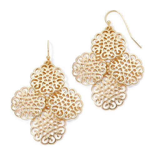 Liz Claiborne® Gold-Tone Chandelier Earrings