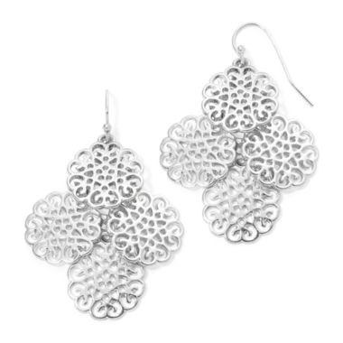 jcpenney.com | Liz Claiborne® Silver-Tone Chandelier Earrings