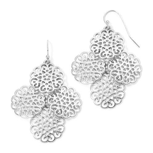 Liz Claiborne® Silver-Tone Chandelier Earrings