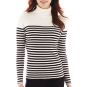 Liz Claiborne® Ribbed Turtleneck Sweater - Tall