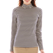 St. John's Bay® Long-Sleeve Mockneck Top - Tall