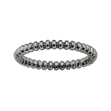 jcpenney.com | Personally Stackable Black Sterling Silver Beaded Ring