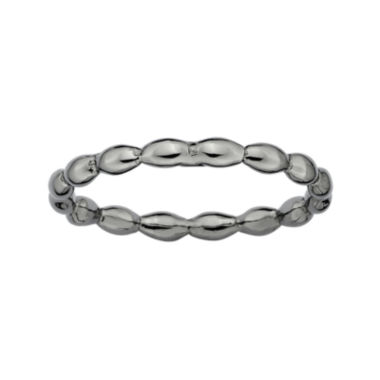 jcpenney.com | Personally Stackable Black Sterling Silver Rice Bead Ring