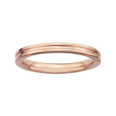 jcpenney.com | Personally Stackable 14K Rose Gold Over Sterling Silver Step-Down Ring