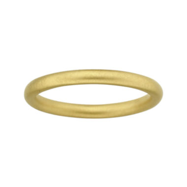 jcpenney.com | Personally Stackable 18K Yellow Gold Over Sterling Silver Satin Ring