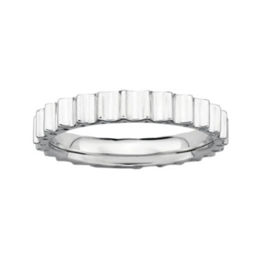 jcpenney.com | Personally Stackable Sterling Silver Ridged Ring