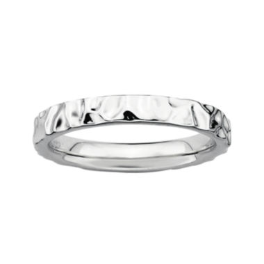 jcpenney.com | Personally Stackable Sterling Silver Hammered Ring