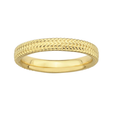 jcpenney.com | Personally Stackable 18K Yellow Gold Over Sterling Silver Braid Ring