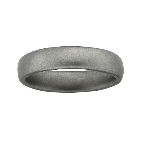 Personally Stackable Sterling Silver Rounded Satin Ring