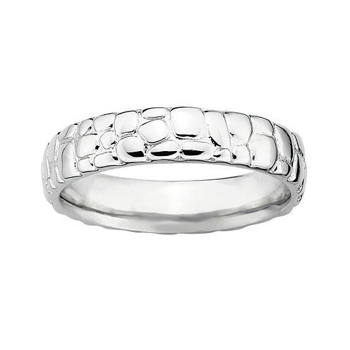 Personally Stackable Sterling Silver Stackable Ring