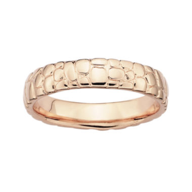 jcpenney.com | Personally Stackable 18K Rose Gold Over Sterling Silver Stackable Ring