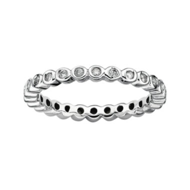 jcpenney.com | Personally Stackable 1/3 CT. T.W. Diamond Sterling Silver Stackable Ring