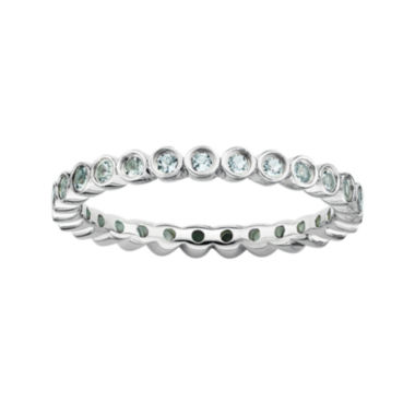 jcpenney.com | Personally Stackable Genuine Aquamarine Sterling Silver Ring