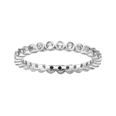 jcpenney.com | Personally Stackable Genuine White Topaz Sterling Silver Ring