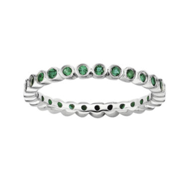 jcpenney.com | Personally Stackable Lab-Created Emerald Sterling Silver Ring