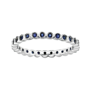 jcpenney.com | Personally Stackable Lab-Created Blue Sapphire Sterling Silver Ring