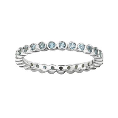 jcpenney.com | Personally Stackable Genuine Blue Topaz Sterling Silver Stackable Ring