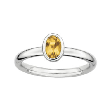 jcpenney.com | Personally Stackable Oval Genuine Citrine Ring