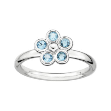 jcpenney.com | Personally Stackable Genuine Blue Topaz Flower Ring