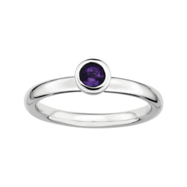 jcpenney.com | Personally Stackable Round Genuine Amethyst Ring