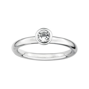 jcpenney.com | Personally Stackable 4mm Round Genuine White Topaz Ring