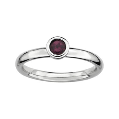 jcpenney.com | Personally Stackable 4mm Round Genuine Rhodolite Ring