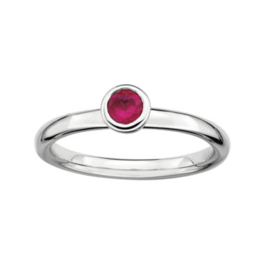 jcpenney.com | Personally Stackable 4mm Round Lab-Created Ruby Ring