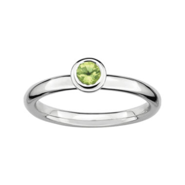 jcpenney.com | Personally Stackable 4mm Round Genuine Peridot Ring