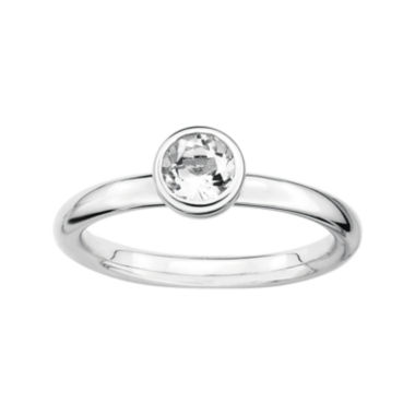 jcpenney.com | Personally Stackable 5mm Round Genuine White Topaz Ring