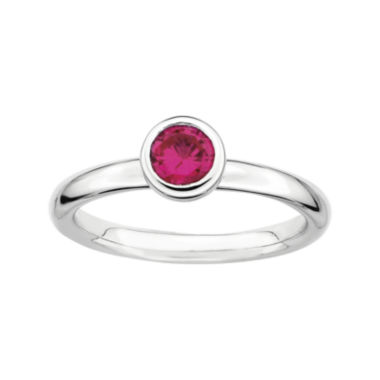 jcpenney.com | Personally Stackable 5mm Round Lab-Created Ruby Ring