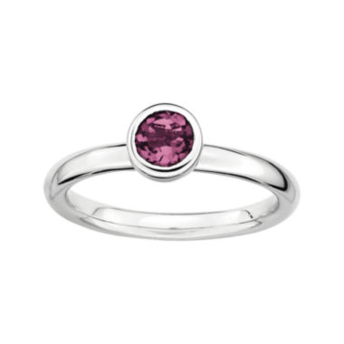 jcpenney.com | Personally Stackable 5mm Round Genuine Pink Tourmaline Ring