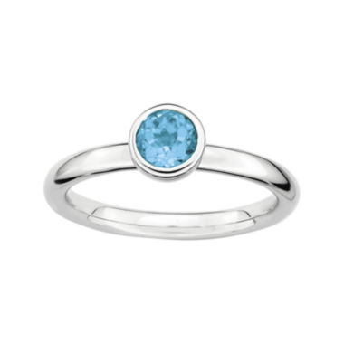 jcpenney.com | Personally Stackable 5mm Round Genuine Blue Topaz Ring
