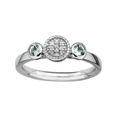 jcpenney.com | Personally Stackable Double Aquamarine & Diamond-Accent Ring