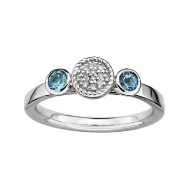 jcpenney.com | Personally Stackable Double Blue Topaz & Diamond-Accent Ring