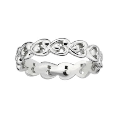jcpenney.com | Personally Stackable Sterling Silver Heart Ring