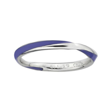 jcpenney.com | Personally Stackable Sterling Silver Twisted Purple Enamel Ring
