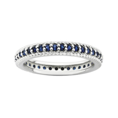 jcpenney.com | Personally Stackable Lab-Created Blue Sapphire Eternity Ring