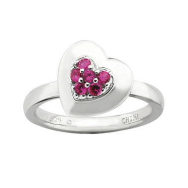 jcpenney.com | Personally Stackable Lab-Created Ruby Heart Ring