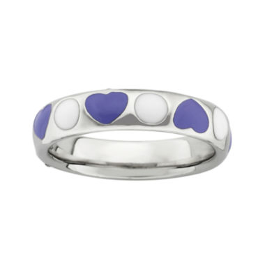 jcpenney.com | Personally Stackable Sterling Silver and Enamel Ring