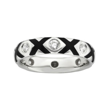 jcpenney.com | Personally Stackable Cubic Zirconia and Enamel Ring