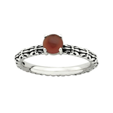 jcpenney.com | Personally Stackable Antiqued Red Agate Ring