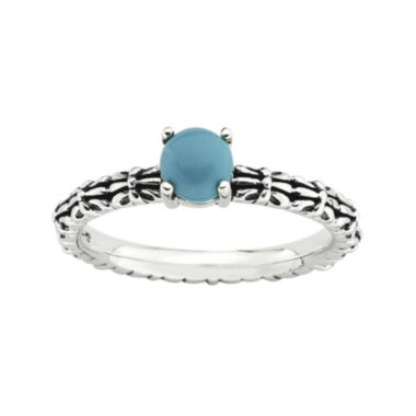 jcpenney.com | Personally Stackable Simulated Turquoise Ring