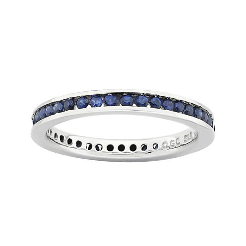 Personally Stackable Lab-Created Sapphire Eternity Ring