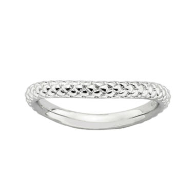jcpenney.com | Personally Stackable Sterling Silver Cable Wave Ring