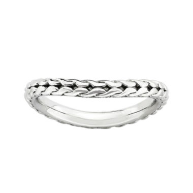 jcpenney.com | Personally Stackable Sterling Silver Woven Wave Ring