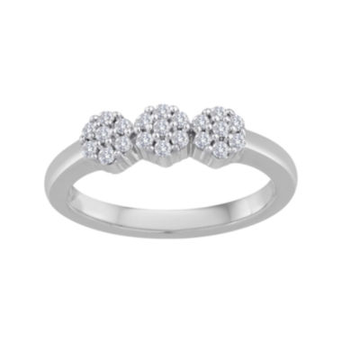 jcpenney.com | diamond blossom 1/4 CT. T.W. Diamond 10K White Gold Cluster Ring