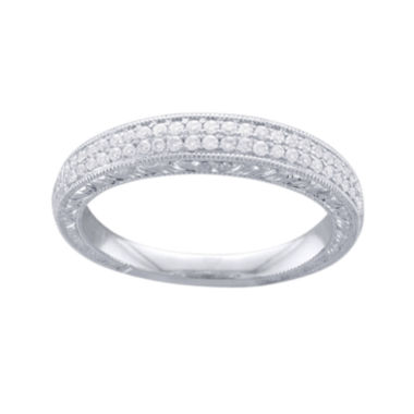 jcpenney.com | Cherished Hearts™ 1/4 CT. T.W. Diamond 14K White Gold Wedding Band