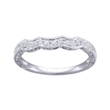 jcpenney.com | Modern Bride® Signature 1/4 CT. T.W. Diamond 14K White Gold Wedding Band